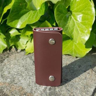 Кожаная ключница small (burgundy)