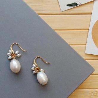 Сережки з перлинами
