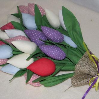 Текстильные тюльпаны тильда