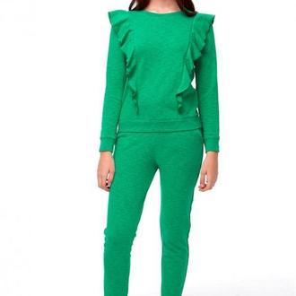 Зеленый свитшот с воланами (костюм)
