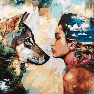 Картина за номерами 40x50 Душа вовка (GX4921) Код: 0096-1515