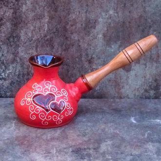 Турка Мала 230 мл., декор Серце червона