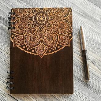"""Деревянный блокнот """"Mandala"""""""