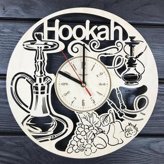 Концептуальные настенные часы из дерева «Кальян»