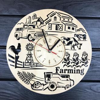 Тематичні настінні дерев'яні годинник «Ферма»