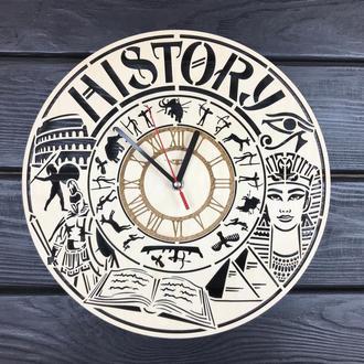Тематические декоративные часы из дерева «История»