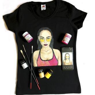 Портрет на футболке по Вашему фото (не принт) Ручная роспись одежды на заказ