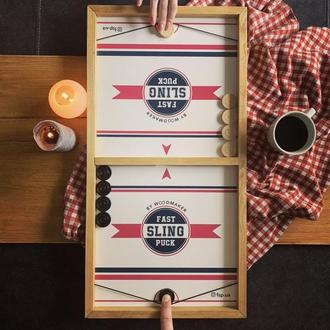 Настольная игра fast sling puck (чапаєв, еластик, хокей)