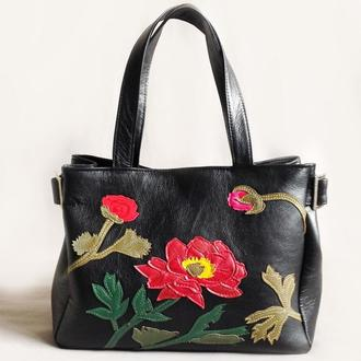 "Кожаная сумка ""Роза"""