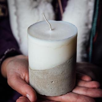 Натуральна свічка з бетоном І свеча