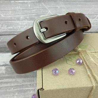 Женский кожаный ремень KB-20 brown (120 см)