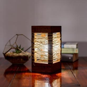 Деревянная лампа в стиле Лофт