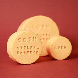 Твердый шампунь SOSH (L) объем (розовый грейпфрут)