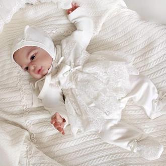 Комплект на выписку для новорожденных Премиум