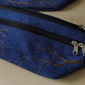 Напоясная сумка, бананка, сумка на резинке, сумка через плече, свободные руки