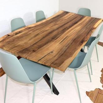 Обеденный стол из натурального дерева Ореха, деревянный стол на кухню в столовую в стиле Лофт