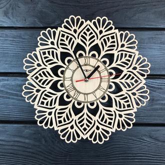 Интерьерные часы из дерева «Мандала»