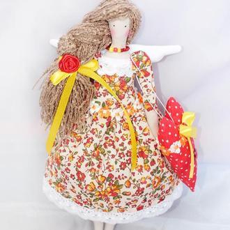 Кукла в стиле тильда Ангел домашнего очага
