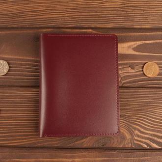 Обложка для документов автодокументов прав старого образца (бордовый)