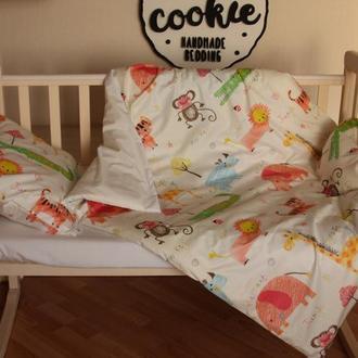 Комплект дитячої постільної білизни Джунглі