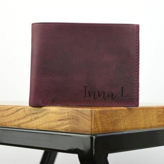 Женский кожаный кошелек, Маленький женский кошелек, подарок подруге, подарок сестре кошелек