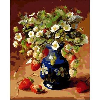 Картина по номерам Клубничный натюрморт 40x50 AS0116