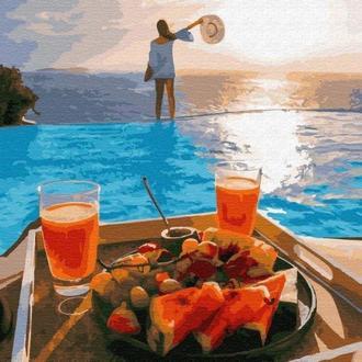 картина по номерам Райский завтрак PGX29699 элит