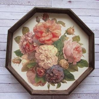 Поднос Винтажные розы