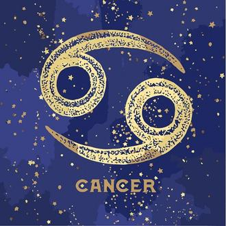 Картина по номерам Знак зодиака Рак с краской металлик Кн9517