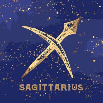 Картина по номерам Знак зодиака Стрелец с краской металлик Кн9523