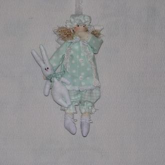Кукла тильда сонный ангел Мятка