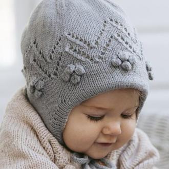 Переклад опису дитячої шапочки на підкладці «Снігова ягода»
