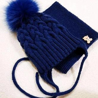 Комплект : шапка и снуд