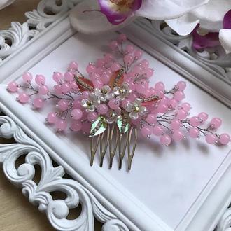 Свадебное украшение для волос, украшения в прическу на выпускной, заколка в прическу, гребешок