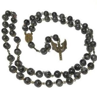 Четки католические Лабрадорит, четки розарий из натурального камня, розарий классический \ Ч - 107