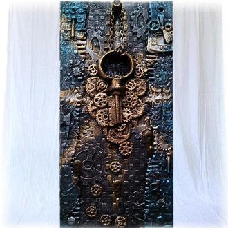 ключница предмет декора интерьера прихожей в стиле лофт