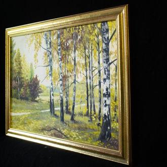"авторская картина ""Осеняя тропа"""