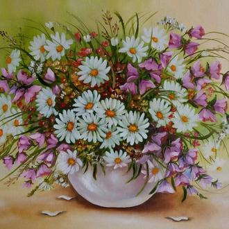 Картина маслом Полевые цветы 2