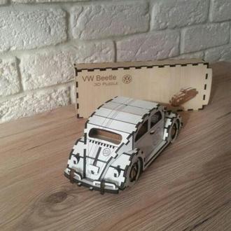 """3D Пазл """"Volkswagen  жук"""" в подарочной упаковке"""