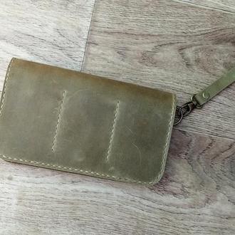 Кошелек, клатч кожаный, барсетка, мужская сумка - 0306-1