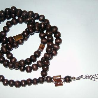 Мусульманские четки-ожерелье на 99 зерен