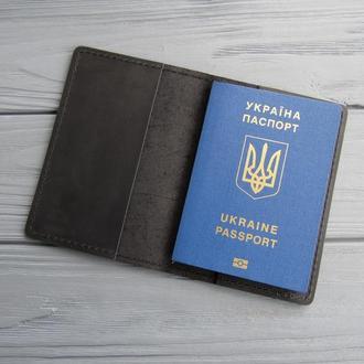 Обложка на паспорт из натуральной кожи_черная_225