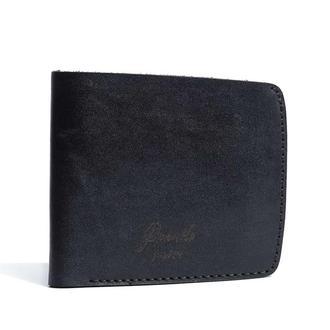 Шкіряне чорне портмоне Franko black Big wallet