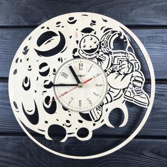 Необыкновенные настенные деревянные часы «Восхитительная луна»