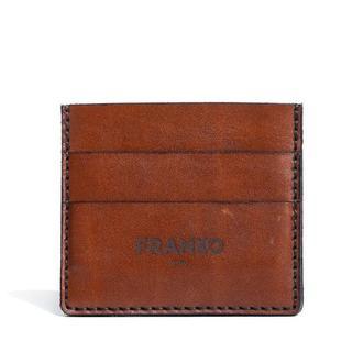 Коричневая кожаная визитница Franko brown Small cardholder