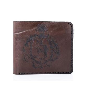 Шкіряне коричневе портмоне Franko Kozak brown Medium wallet