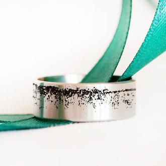 Кольцо из нержавеющей стали с оригинальной гравировкой