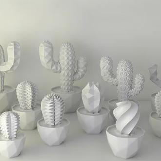 Набор из декоративных кактусов экопластик