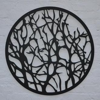 Декоративное панно из дерева колючки, настенный декор, картина из дерева, Деревянное панно