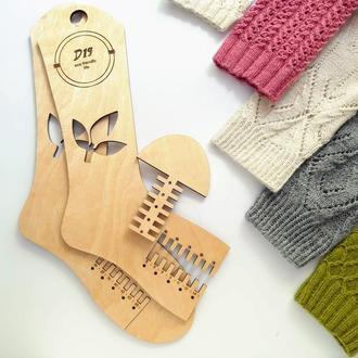 Деревянные блокаторы (лекала) для вязаных носков